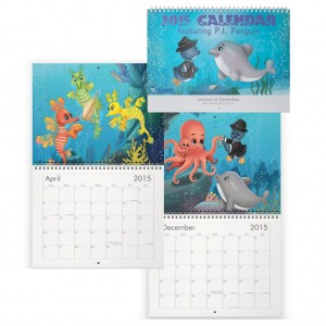 Limited Edition P.I. Penguin Wall Calendar 2015