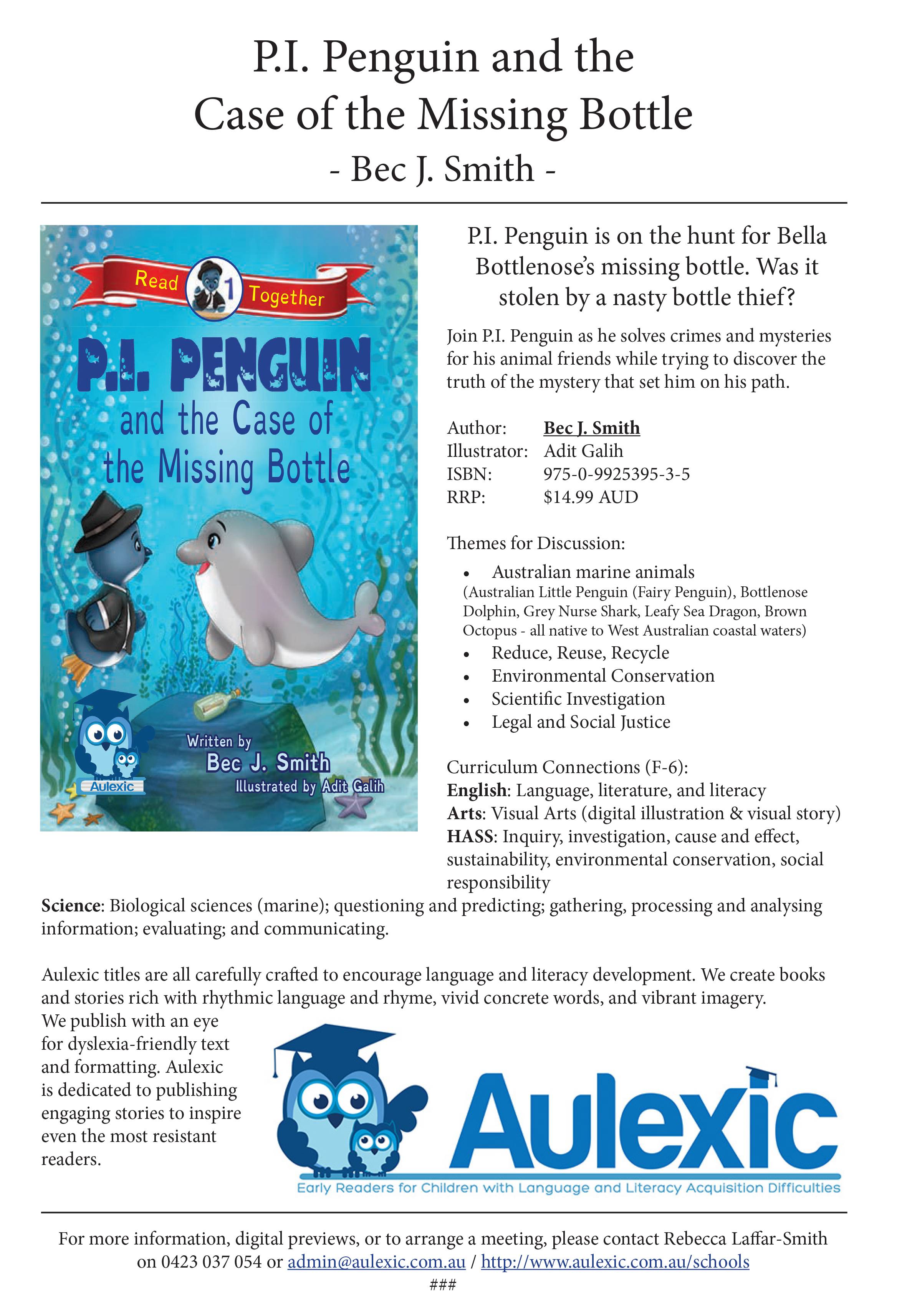 P.I. Penguin Series Information Package
