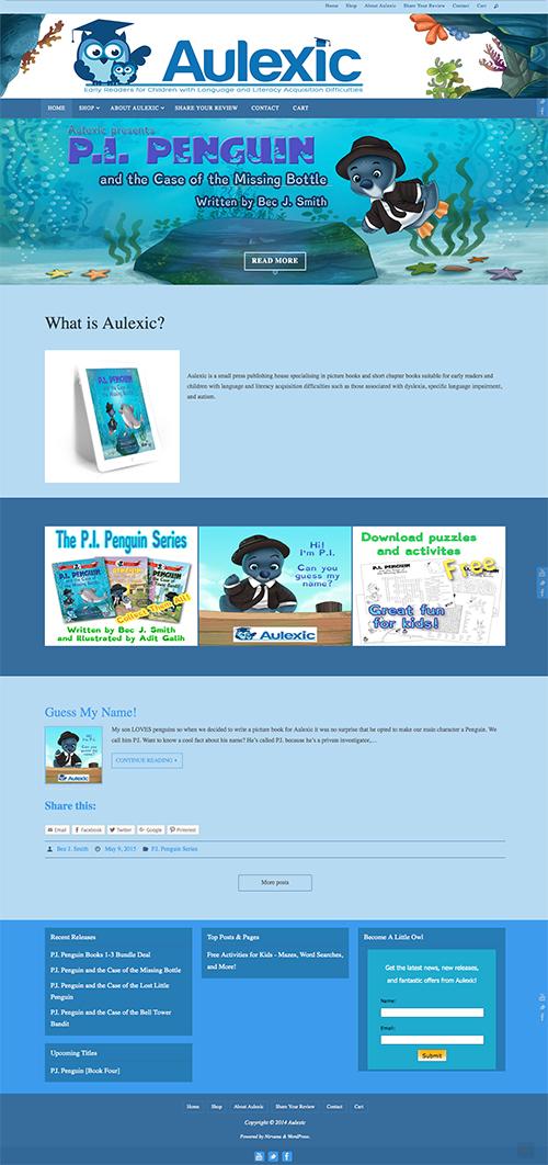 Aulexic WebSite ScreenShot v1 2015 webdesign