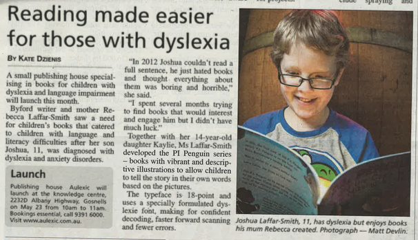 Reading made easier for those with dyslexia by Kate Dzienis at The Examiner (published May 21, 2015)