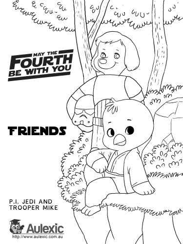May 4th - Friends Colour In