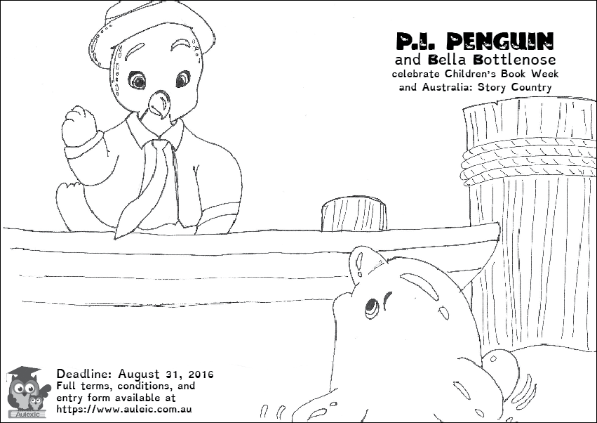 P.I. Penguin Colour In Competition Image August 2016