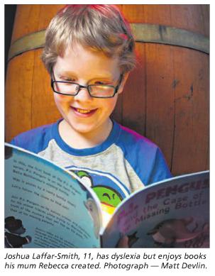 Joshua Laffar-Smith (age 11) reading P.I. Penguin
