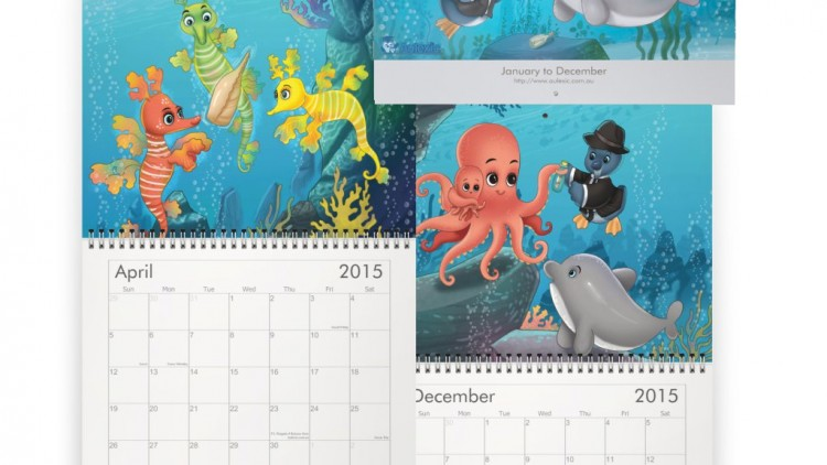 P.I. Penguin Wall Calendar 2015 Now Available!