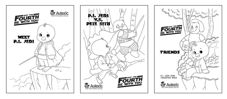 Star Wars Day - May the 4th Colour In - Free To Download And Print