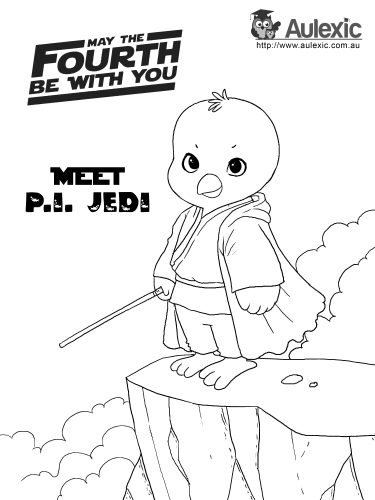 May 4th - P.I. Jedi Colour In