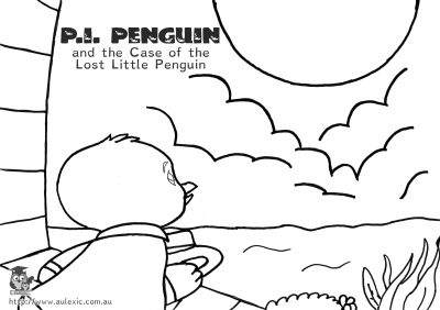 Penguin Moon - P.I. Penguin Colour In