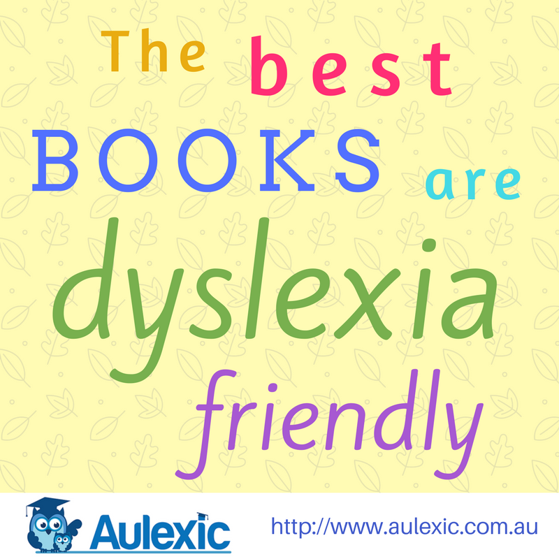 The best books are dyslexia friendly colourful text on yellow background. Click to tweet this!