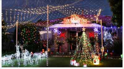 A photograph of one of Perth's top 10 Christmas Light displays in 2016.